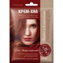 Kremowa henna z olejkiem łopianowym MIEDZIANO-CZERWONA - gotowa do użycia