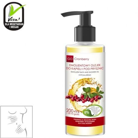 Emolientowy olejek do kąpieli i pod prysznic GoCranberry