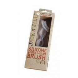 Szczoteczka silikonowa do masażu dziąseł i mycia pierwszych ząbków 2-5 lat