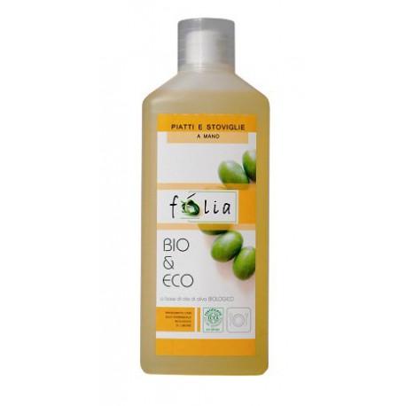 Skoncentrowany organiczny płyn do mycia naczyń z olejkami eterycznymi z cytryny