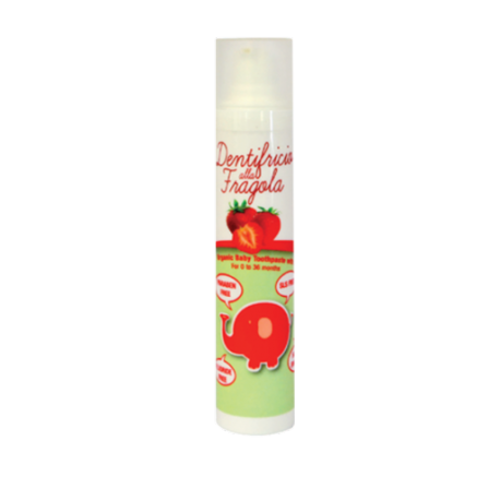 Organiczna pasta dla dzieci TRUSKAWKA bez fluoru z ksylitolem