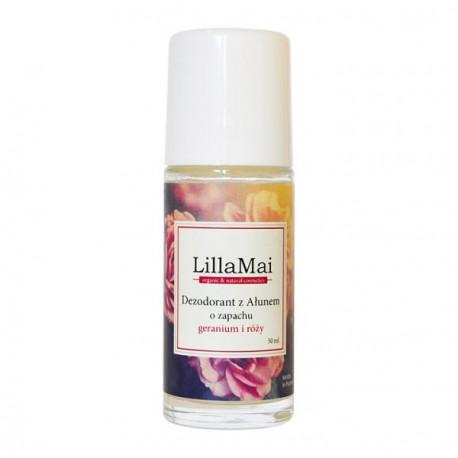 Naturalny dezodorant z ałunem o zapachu geranium i róży