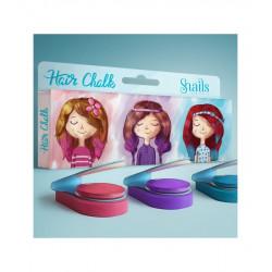 Kreda do włosów - bezpieczna chwilowa zmiana koloru dla dziewczynek