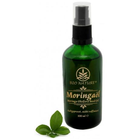 Olej moringa 100%, tłoczony na zimno - do twarzy, ciała i włosów