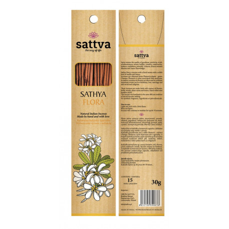 Naturalne kadzidło, ręcznie skręcane SATHYA FLORA
