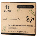 Patyczki higieniczne bambusowe do uszu w kształcie bałwanka/stożka