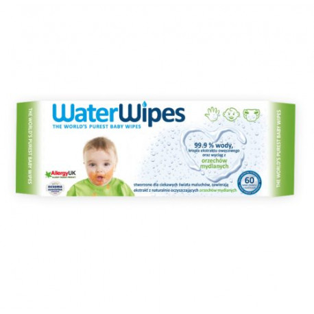 Chusteczki nasączane czystą wodą WaterWipes - 100% naturalne