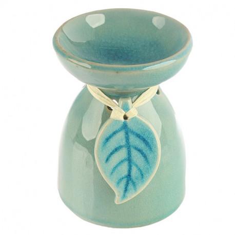 Kominek do aromaterapii - popękana ceramika i wycięte kwiaty + GRATIS