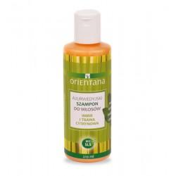 Ajurwedyjski szampon do włosów - nadaje połysk i zapobiega plątaniu - imbir i trawa cytrynowa Orientana